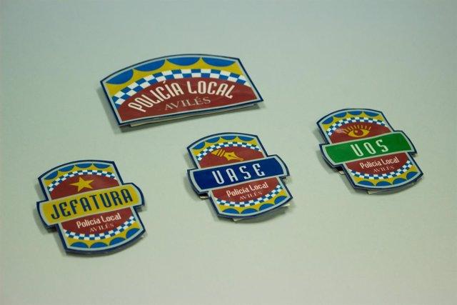 Distintivos Policía Local.