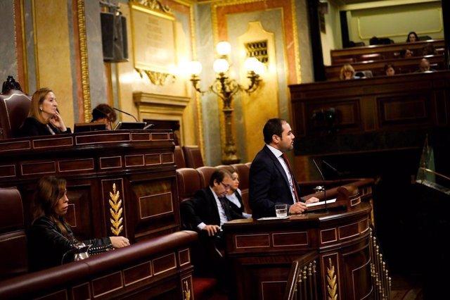 Rodrigo Gómez (Cs) en el Congreso de los Diputados