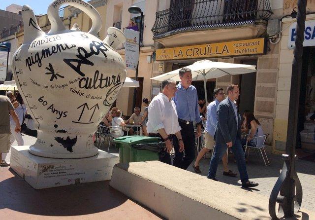 Visita de Xavier García Albiol (PP) por Argentona (Barcelona)