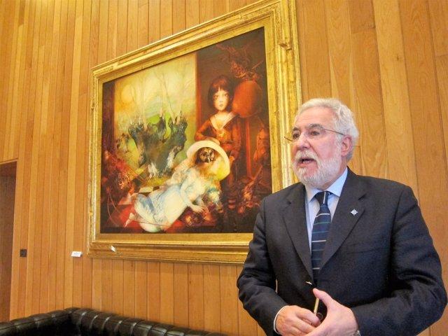 El presidente del Parlamento, Miguel Santalices, entrevistado por Europa Press