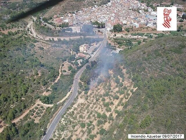 Incendio en Azuébar