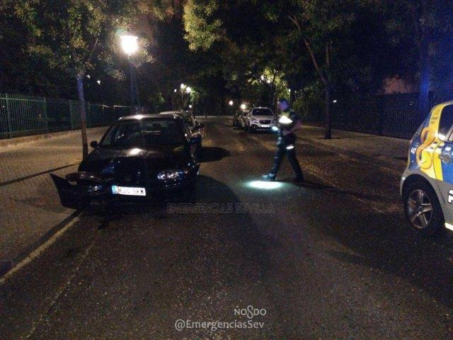 Accidente en la Avenida María Luisa de Sevilla