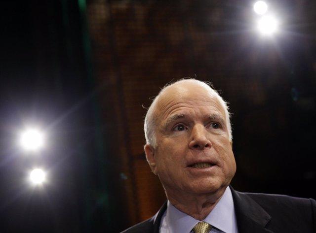 John McCain durante un evento en Mesa, ago 27 2013