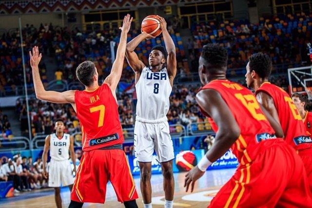 España cae ante Estados Unidos y acaba cuarta en el Mundial Sub-19 de baloncesto