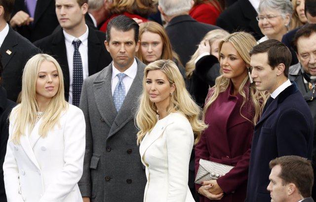 Tiffany Trump, Donald Trump Jr, Ivanka Trump, Vanessa Trump y Jared Kushner