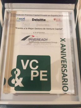 Inveready, premio a la mejor gestora de venture vapital en España por Ascri