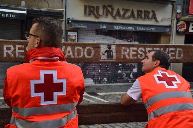 Dispositivo de Cruz Roja en el encierro