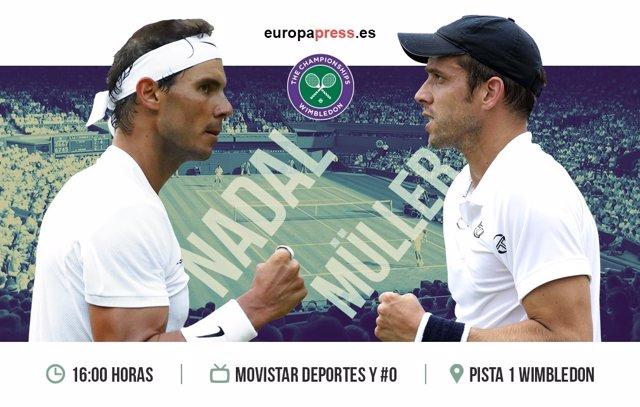 Horario y dónde ver el Nadal-Muller | Octavos de final Wimbledon 2017