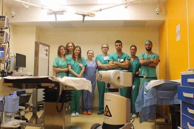 El equipo del Servicio de Radioterapia de La Ribera