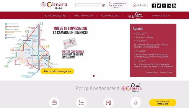 Web de la Cámara de Comercio