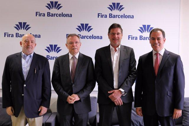 Giampiero Cortinovis, Antón Valero, Bernd Roegele y Josep Maria Gascón
