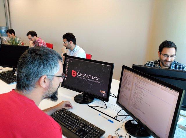 Trabajadores de Chakray Consulting que tendrán sus sede en la Torre Sevilla.