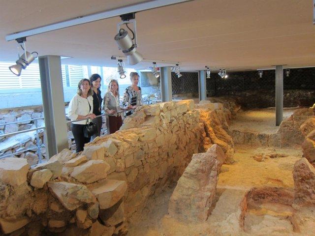 Los restos romanos del Palacio de Mayoralgo en Cáceres