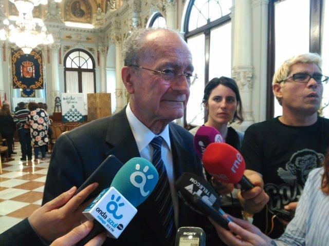 De la torre ayuntamiento alcalde málaga rueda de prensa canutazo