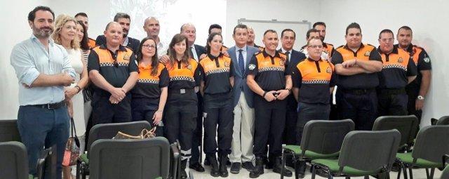 Delegado gobierno sanz inaugura sede protección civil antequera