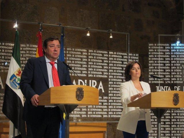 Fernández Vara y Soraya Saénz de Santamaría