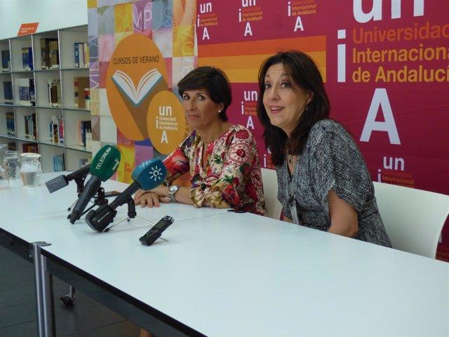 Esther Arén en los cursos de verano de la UNIA en La Rábida