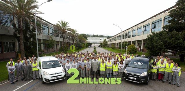 Dos millones de Citroën Berlingo y Peugeot Partner en Vigo