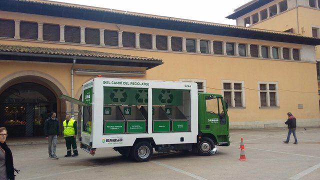 Camión del reciclaje