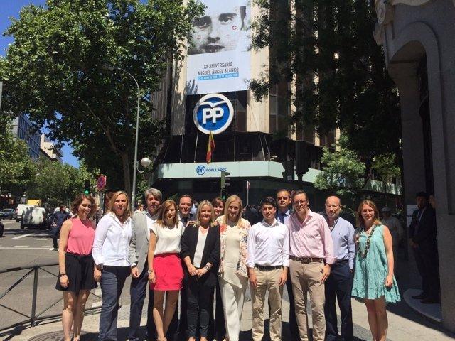 Miembros PP de Madrid homenajean a Miguel Ángel Blanco