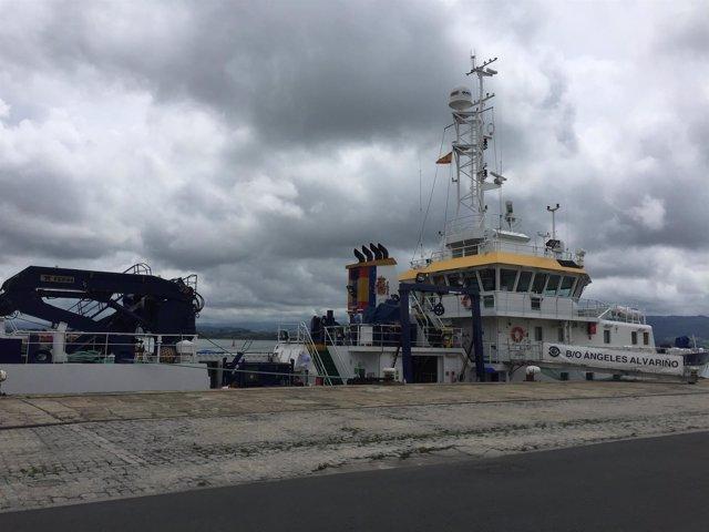 Buque del IEO en el Puerto de Santander