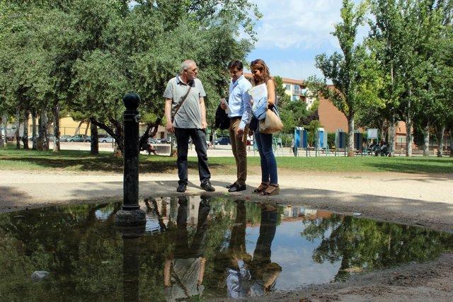 Contín y Navarro han visitado hoy el Parque Torre Ramona