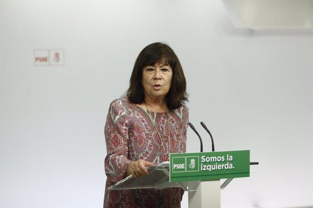 Rueda de prensa de Cristina Narbona tras un encuentro sobre cambio climático