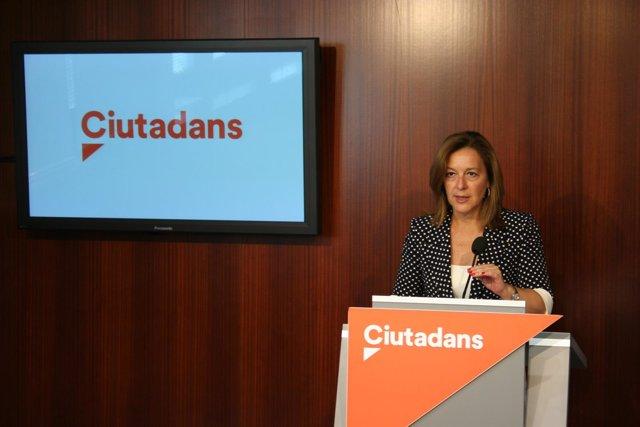 La líder de Ciutadans (Cs) en el Ayuntamiento de Barcelona, Carina Mejías