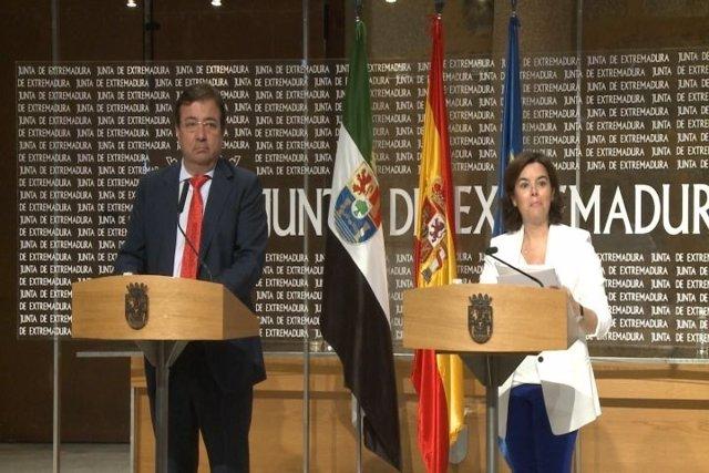 Fernández Vara y Soraya Sáenz de Santamaría