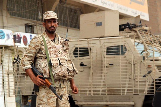Un militar yemení en el sur del país.