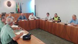 Gil-Toresano destaca la importancia de la coordinación policial para la celebración de la feria de Tomares (Sevilla)