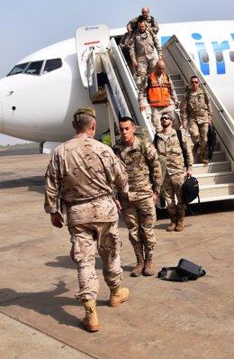 Llegan a Ceuta un grupo de soldados tras formar al ejército de Mali