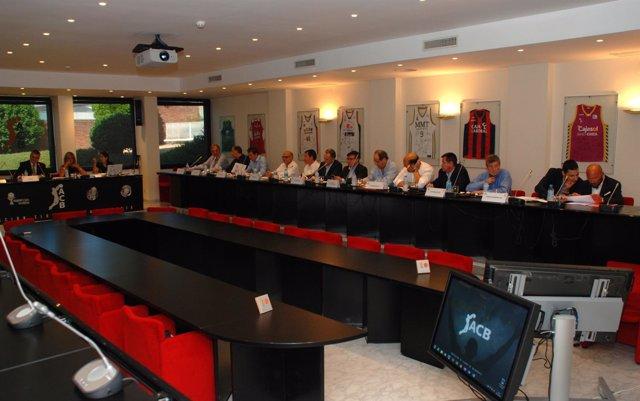 Los clubes de la ACB reunidos