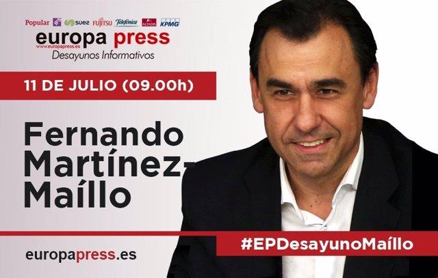 Martínez Maíllo participa este martes 11 de julio en los Desayunos Informativos