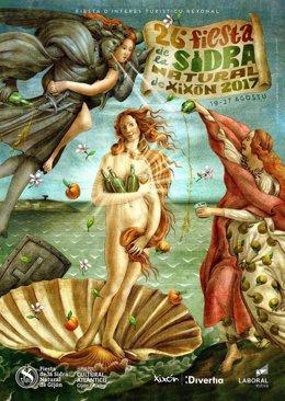 Cartel de la Fiesta de la Sidra Natural.