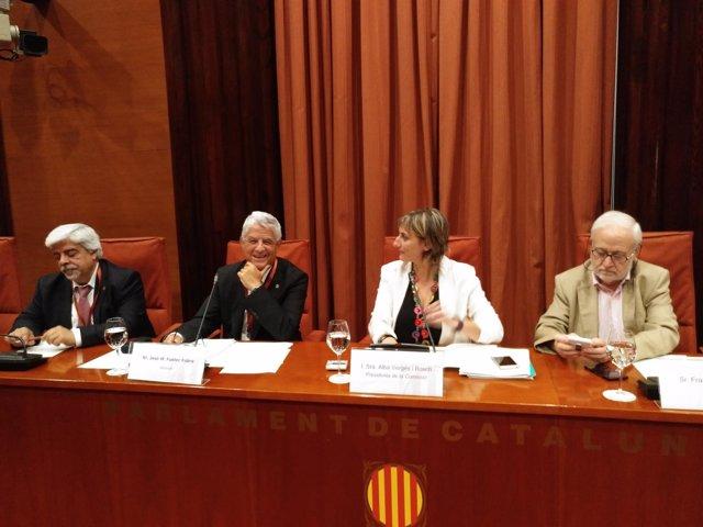 Abogados Oriol Rusca, José María Fuster-Fabra; Alba Vergès (JxSí)