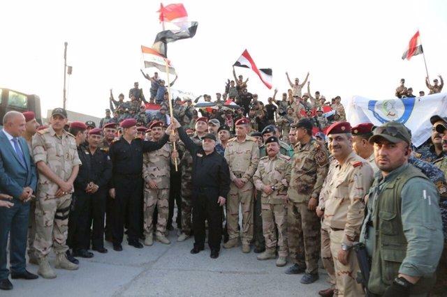 Al Abadi celebra la victoria en Mosul
