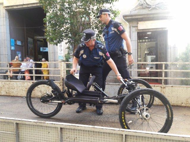 Bicicleta de Gema Hassen-Bey recuperada en Madrid