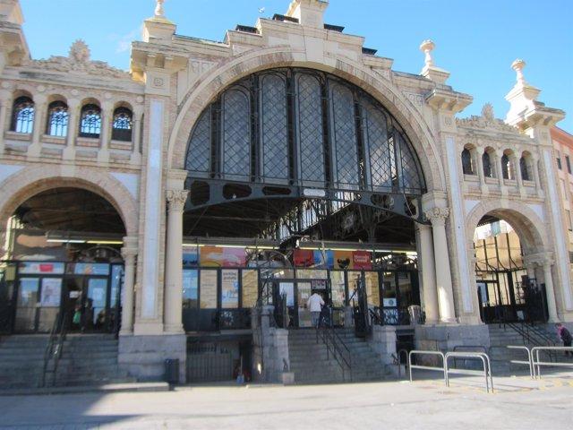 Mercado Central frontal, fachada, entrada principal