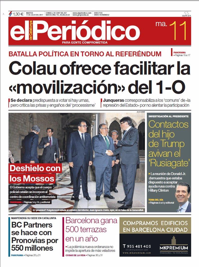 Las Portadas De Los Periódicos De Hoy Martes 11 De Julio De