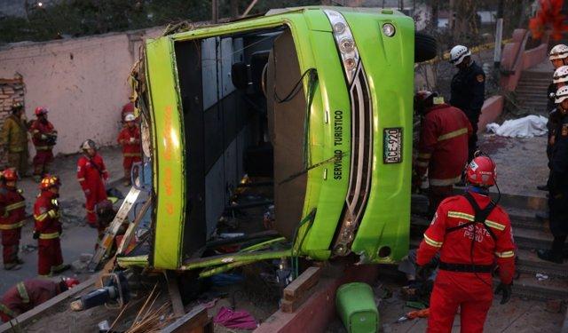Accidente de autobús Cerro de San Cristóbal
