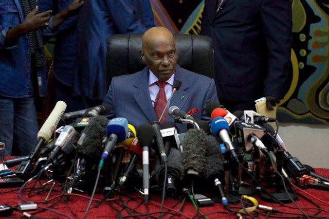 El expresidente de Senegal Abdoulaye Wade