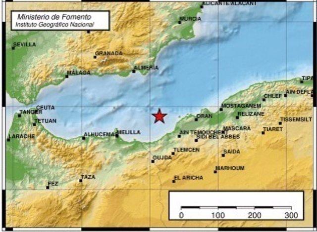 Sentido en municipios de Almería un terremoto de magnitud 4,8