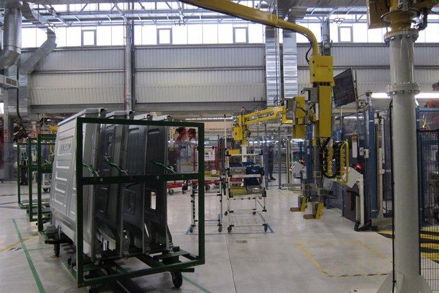 Valladolid. Fase de producción en la fábrica de Iveco