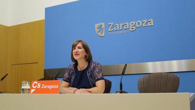 La portavoz de Ciudadanos en el Ayuntamiento de Zaragoza, Sara Fernández