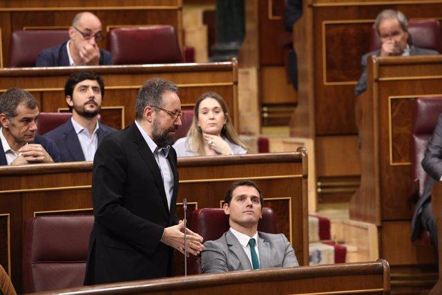 Juan Carlos Girauta y Rivera en la sesión de control al Gobierno en el Congreso