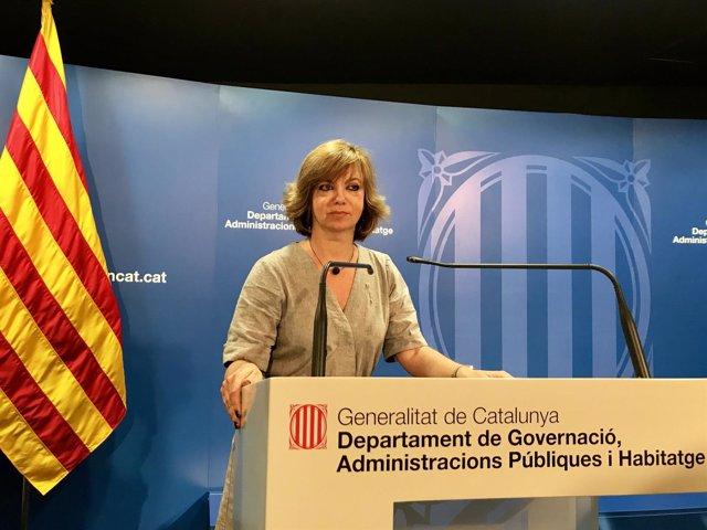 La consellera de Gobernación de la Generalitat, Meritxell Borràs