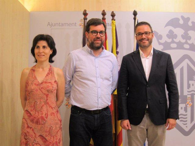 Antonia Martín, Antoni Noguera y José Hila