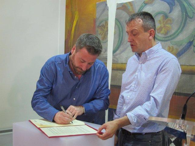 Soro y Rivarés han firmado hoy un acuerdo de colaboración en materia turística