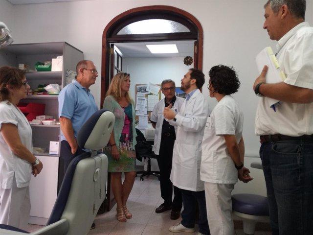 Gómez durante la visita